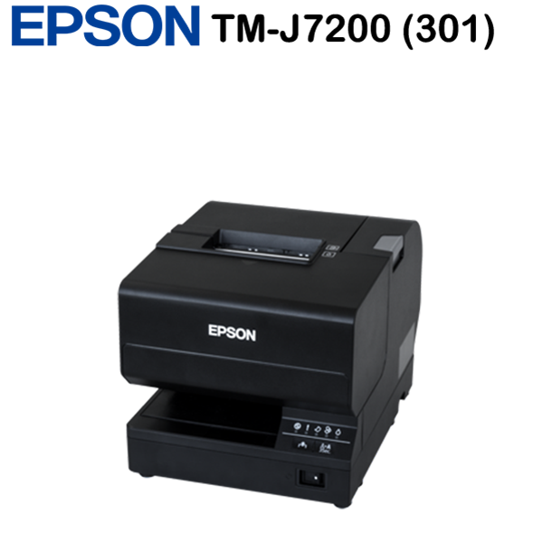 Epson TM-J7200 (301) blokknyomtató, W/O MICR,BLACK,INC PSU, EU, Black, USB 2.0 Type B, Ethernet, Full Cut