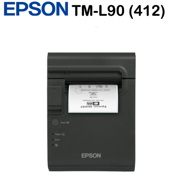 Epson TM-L90 (412) blokknyomtató, Serial+Built-in USB, PS, EDG, Black, USB 2.0 Type B, RS-232, Full Cut
