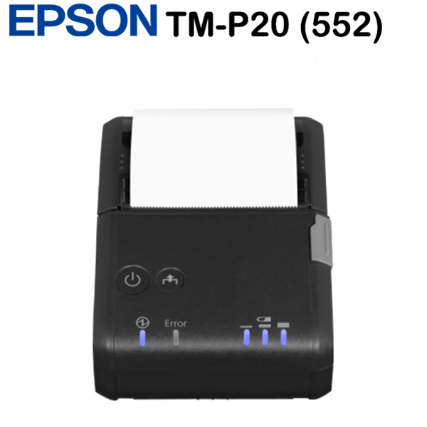 Epson TM-P20 (552) blokknyomtató, Receipt, NFC, BT, Cradle, EU, Black, USB 2.0 Type Mini-B, Bluetooth,