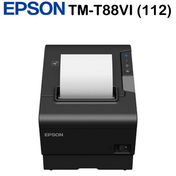 Epson TM-T88VI (112) blokknyomtató, Serial, USB, Ethernet, Buzzer, PS, Black, EU