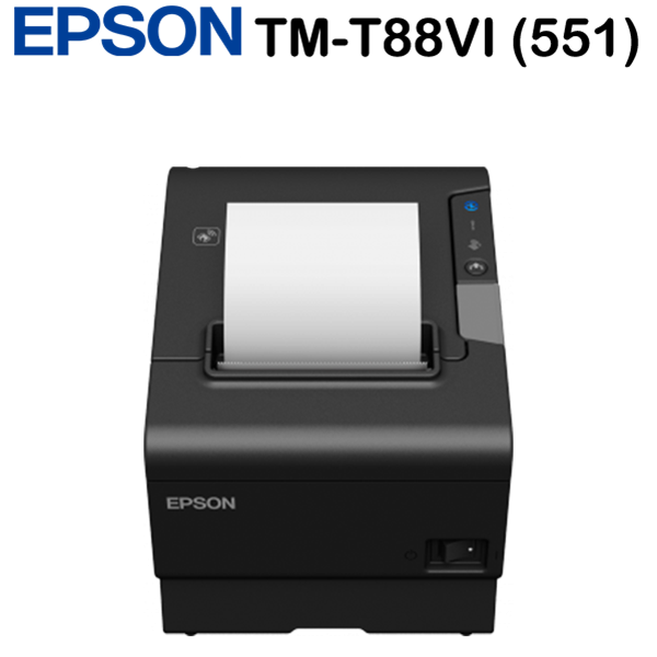 Epson TM-T88VI (551) blokknyomtató, USB, Ethernet, Bluetooth, PS, Black, EU